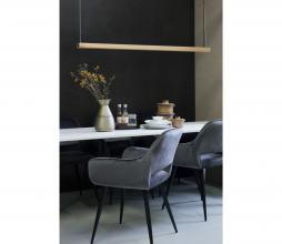 Afbeelding van product: WOOOD Jelle eetkamerstoel velvet - grijs
