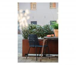 Afbeelding van product: WOOOD Wander eetkamerstoel (binnen-buiten) kunststof/metaal zwart