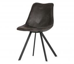 Afbeelding van product: WOOOD Swen eetkamerstoel PU leer vintage zwart