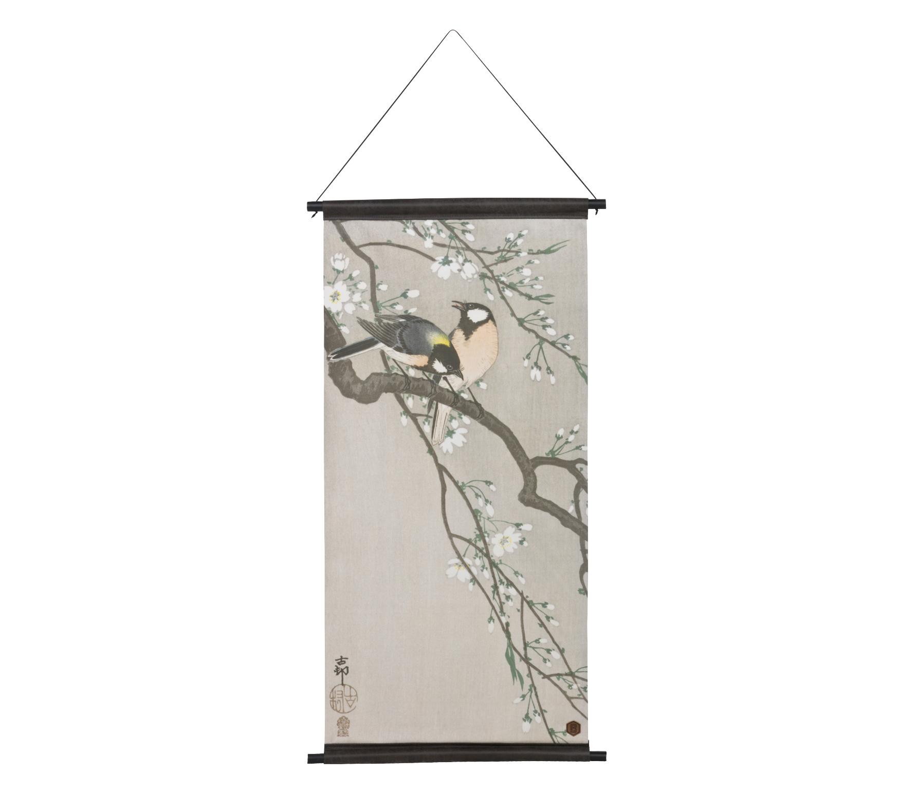 BePureHome Blossom poster velvet 110x55 cm poedertinten