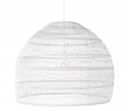 Afbeelding van product: HKLiving Ball hanglamp riet wit Ø 80 cm