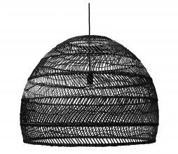 Afbeelding van product: HKLiving Ball hanglamp riet zwart Ø 80 cm