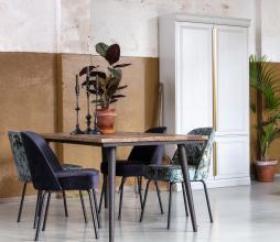 Afbeelding van product: BePureHome Vogue eetkamerstoel poppy velvet grijs