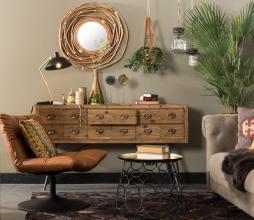 Afbeelding van product: Dutchbone Six cabinet ladekast 84x150x40 cm hout naturel