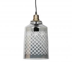 Afbeelding van product: BePureHome Engrave hanglamp glas h33cm grijs