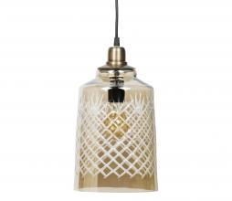 Afbeelding van product: BePureHome Engrave hanglamp glas h33cm antique brass