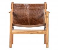 BePureHome Chill fauteuil leer bruin