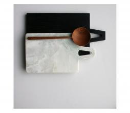 Afbeelding van product: HKLiving broodplank L vierkant sungkai hout zwart