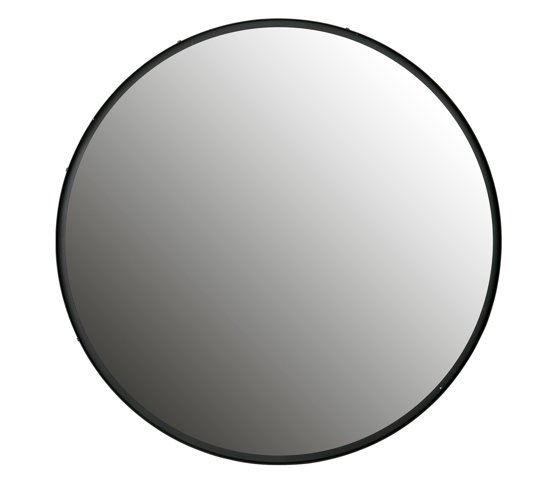 WOOOD Lauren spiegel metaal zwart, div afmetingen Ø100 cm