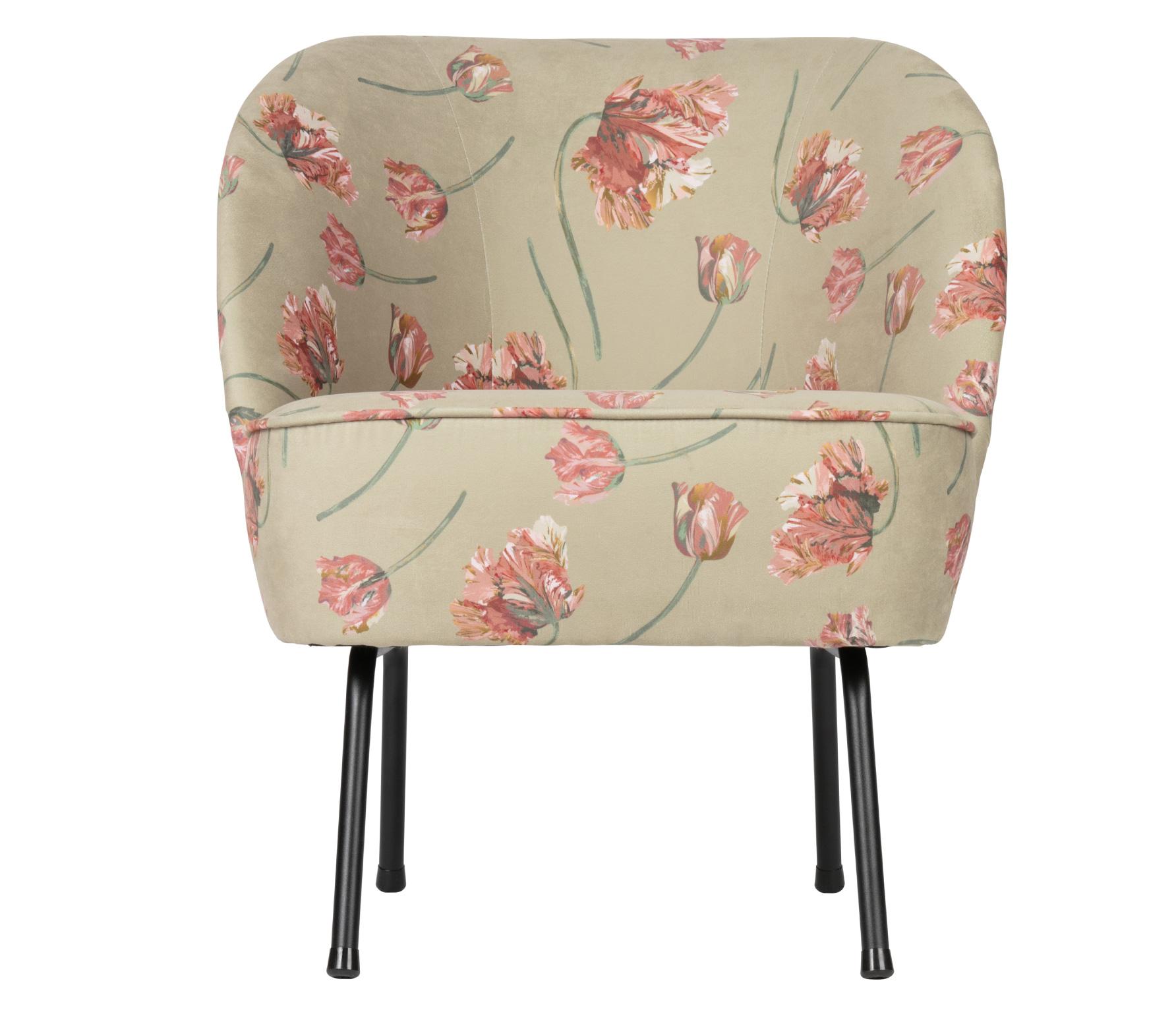 BePureHome Vogue fauteuil Rococo velvet agave zachtgroen