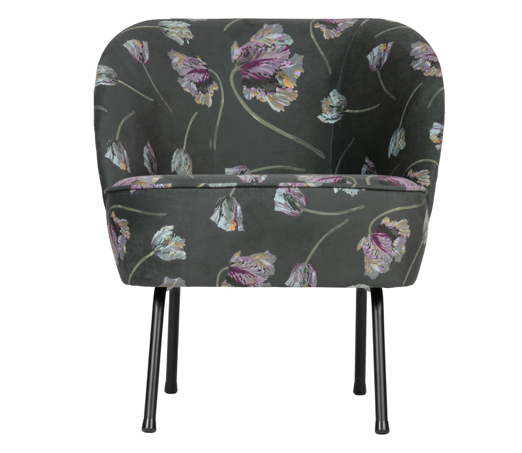 BePureHome Vogue fauteuil Rococo velvet aloë donkergroen
