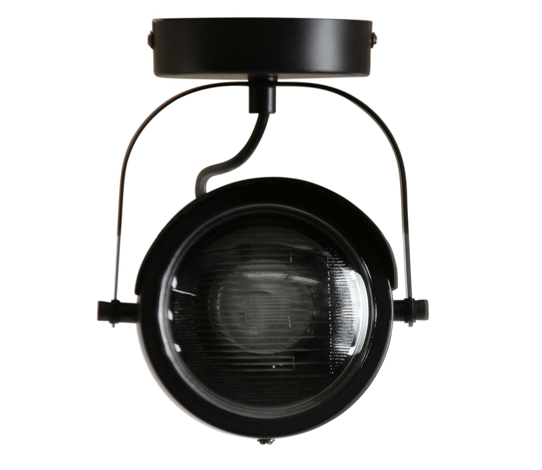 WOOOD Exclusive Lester plafondlamp 1 lamp metaal zwart