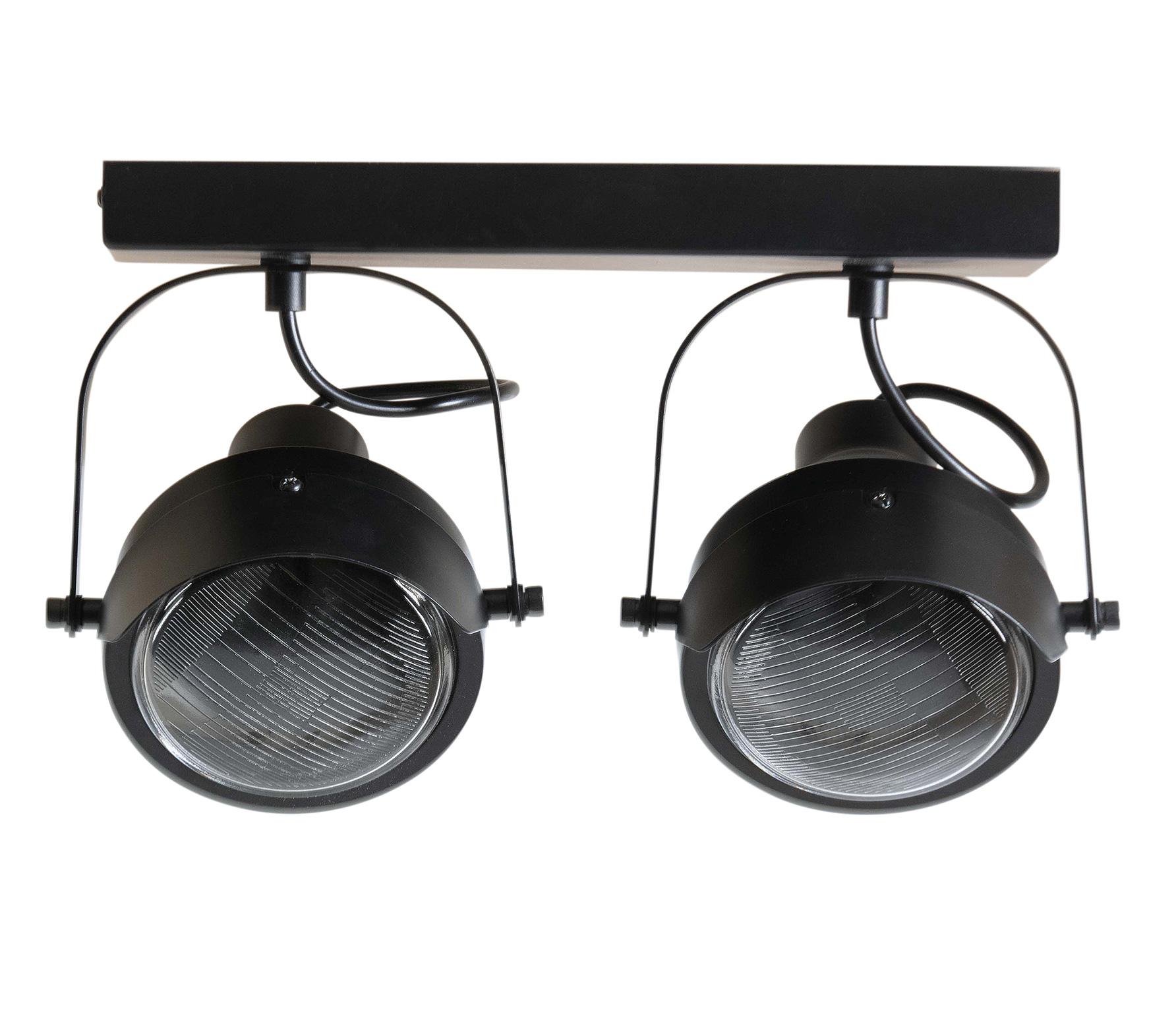 WOOOD Exclusive Lester plafondlamp 2 lamp metaal zwart