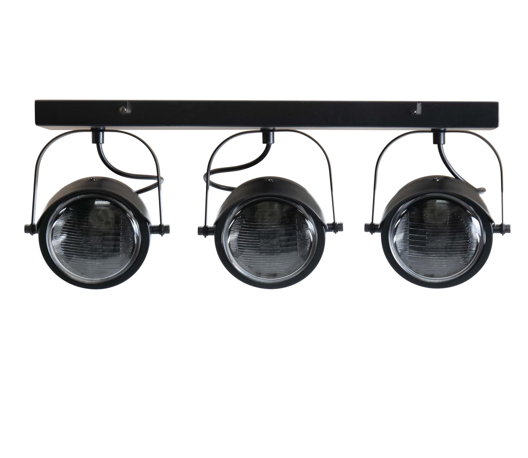 WOOOD Exclusive Lester plafondlamp 3 lamp metaal zwart