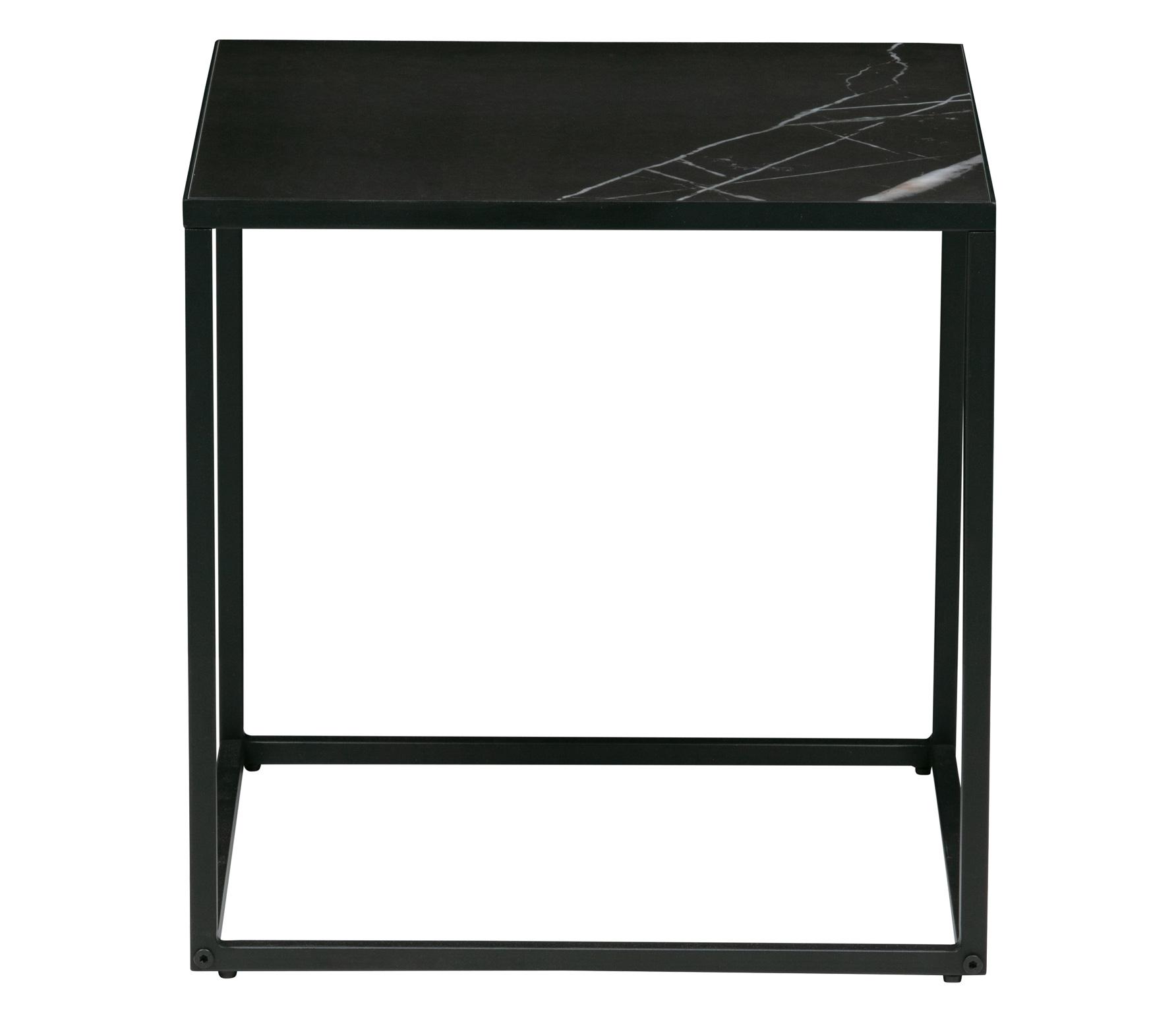 vtwonen Side bijzettafel M marmer look 45x45 cm zwart