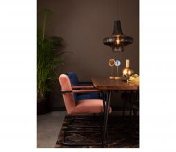 Afbeelding van product: Dutchbone Stitched eetkamerstoel velvet roze