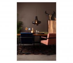 Afbeelding van product: Dutchbone Stitched eetkamerstoel velvet navy