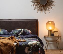 Afbeelding van product: BePureHome Snooze hoofdbord tbv 2-persoons bed zwart recyle leer 177 cm