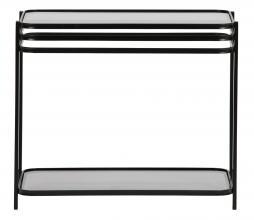 Afbeelding van product: WOOOD Exclusive Kylie bijzettafel metaal/glas zwart