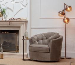 Afbeelding van product: BePureHome Carousel draaifauteuil velvet khaki