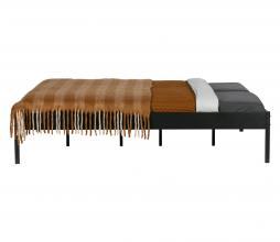 Afbeelding van product: WOOOD Pepijn bed metaal zwart, div afm. 160x200 cm