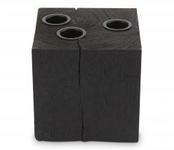 Afbeelding van product: vtwonen kaarshouder vierkant hout omkeerbaar zwart