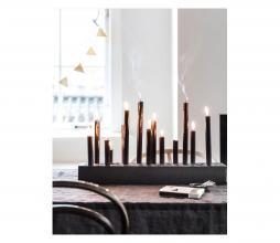 Afbeelding van product: vtwonen kandelaar rechthoek hout zwart