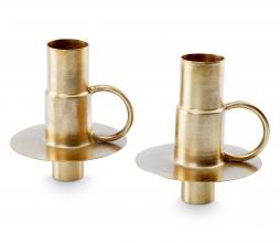 Afbeelding van product: vtwonen kaarshouder fles metaal set van 2 goud