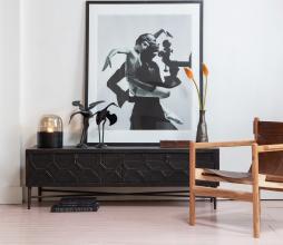 Afbeelding van product: BePureHome Bequest tv meubel grenenhout antiek zwart