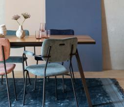 Afbeelding van product: Zuiver Benson eetkamerstoel grijsblauw