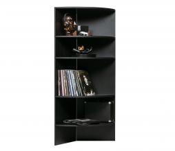 Afbeelding van product: WOOOD Exclusive Trian boekenkast geschuurd essenhout black night