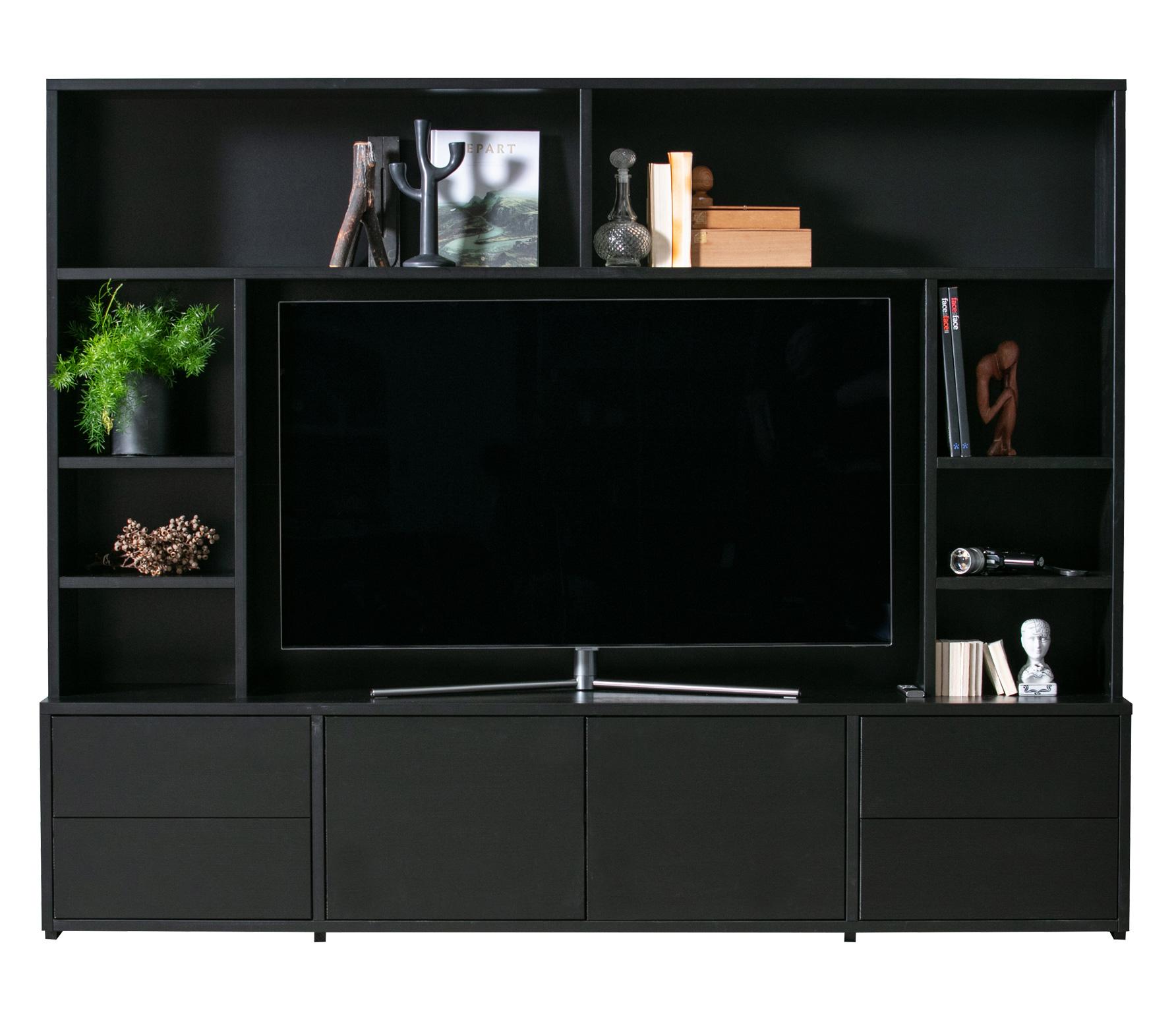 Tv Kast 50 Diep.Woood Exclusive Maxel Tv Wandmeubel Geschuurd Grenen Basiclabel