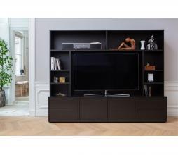 Afbeelding van product: WOOOD Exclusive Maxel TV wandmeubel geschuurd grenen diep zwart