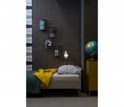 Afbeelding van product: WOOOD Sammie bed 90x200 cm grenen warmgrijs