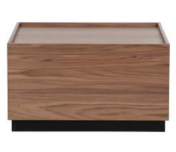 Afbeelding van product: vtwonen Block bijzettafel 82x82 cm grenen walnoot