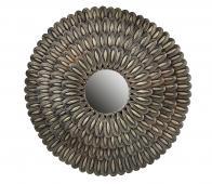 BePureHome Husk spiegel Ø83 cm metaal antique brass