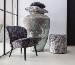 Afbeelding van product: Basiclabel Story fauteuil velvet zwart