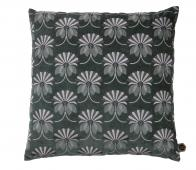 BePureHome Vintage floral kussen 48x48 cm velvet steel