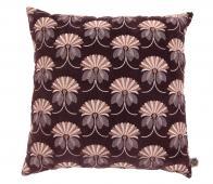 BePureHome Vintage floral kussen 48x48 cm velvet burgundy