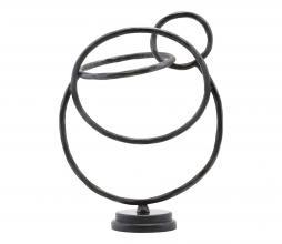 Afbeelding van product: House Doctor Circles sculptuur metaal/marmer zwart