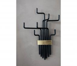 Afbeelding van product: House Doctor Pipes kapstok metaal zwart