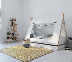 Afbeelding van product: WOOOD Tipi bed 90 x 200 cm grenen wit