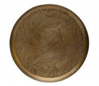 BePureHome Notch dienblad metaal antique brass, div afm Ø 31 cm