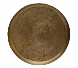 Afbeelding van product: BePureHome Notch dienblad metaal antique brass, div afm Ø 31 cm