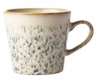 HKLiving Hail cappuccino mok keramiek off-white/groen