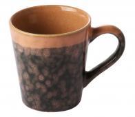 HKLiving Lava espresso mok '70 keramiek beige/zwart