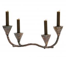Afbeelding van product: BePureHome Ground kandelaar metaal antique brass