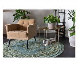 Afbeelding van product: Dutchbone Bodega vloerkleed Ø175 cm groen