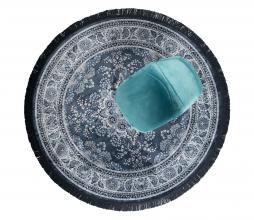 Afbeelding van product: Dutchbone Bodega vloerkleed Ø175 cm blauw