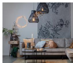 Afbeelding van product: LED cirkel ø50 cm metaal zwart